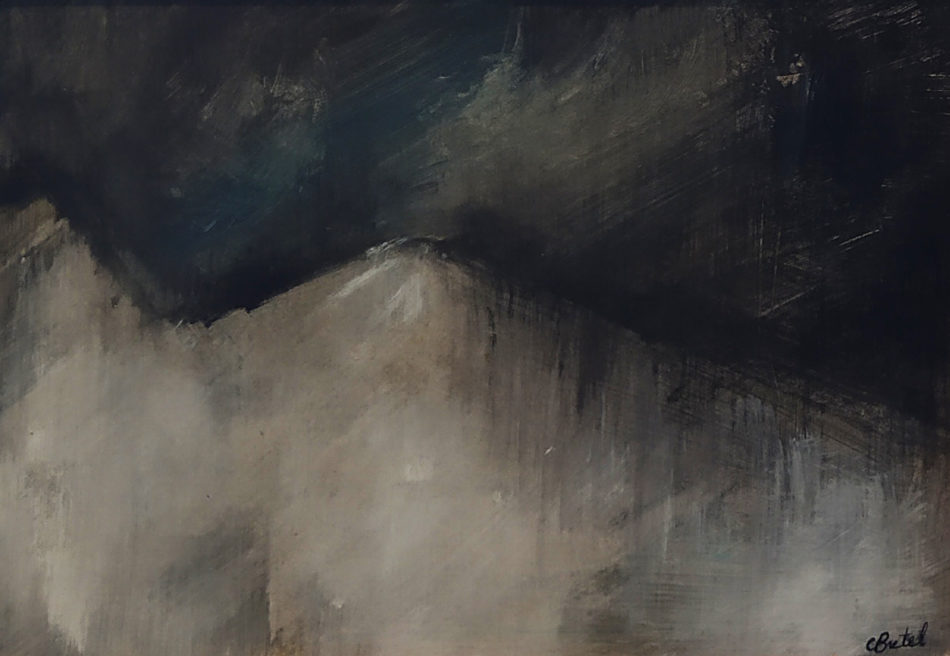 BRETEL Corinne Sans titre / 2013 / Technique mixte sur papier sous verre encadrée / H. 20 : L. 28  cm