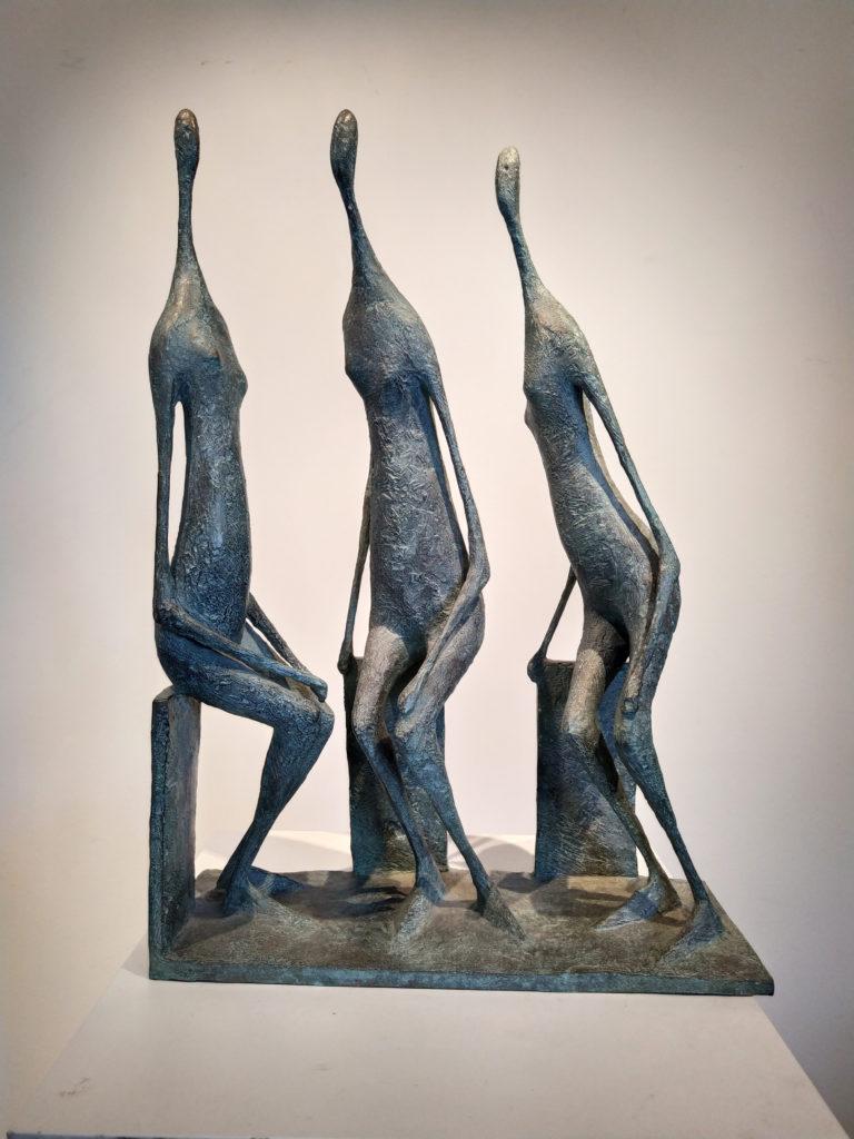 Pierre Yermia - Trois Figures Assises