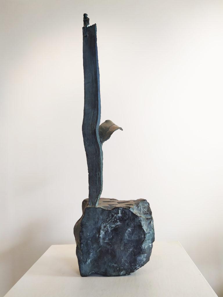 Sitting (1/8) / 1996 / Sculpture en bronze / 17x8 H. 55 cm