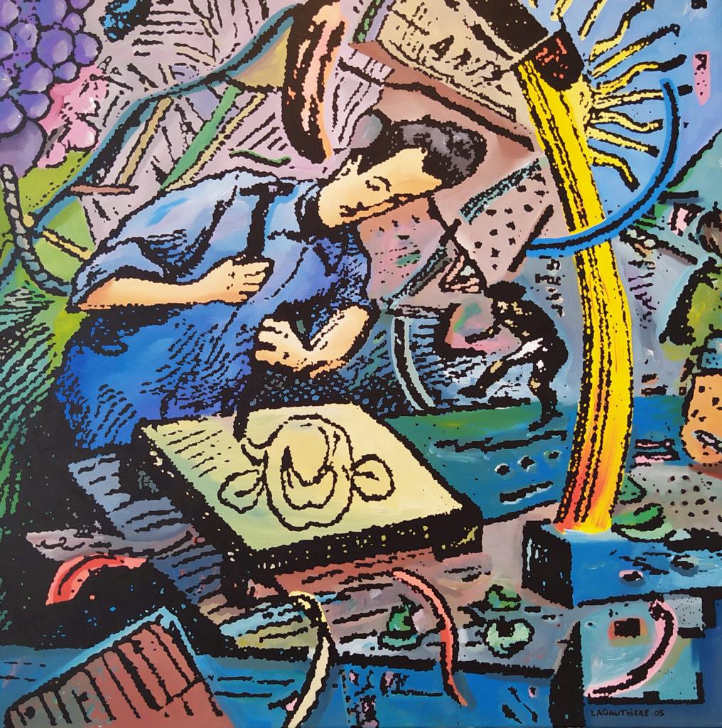 Les Ciselures du Temps / 2005 / Acrylique sur toile / H. 80 : L. 80 cm