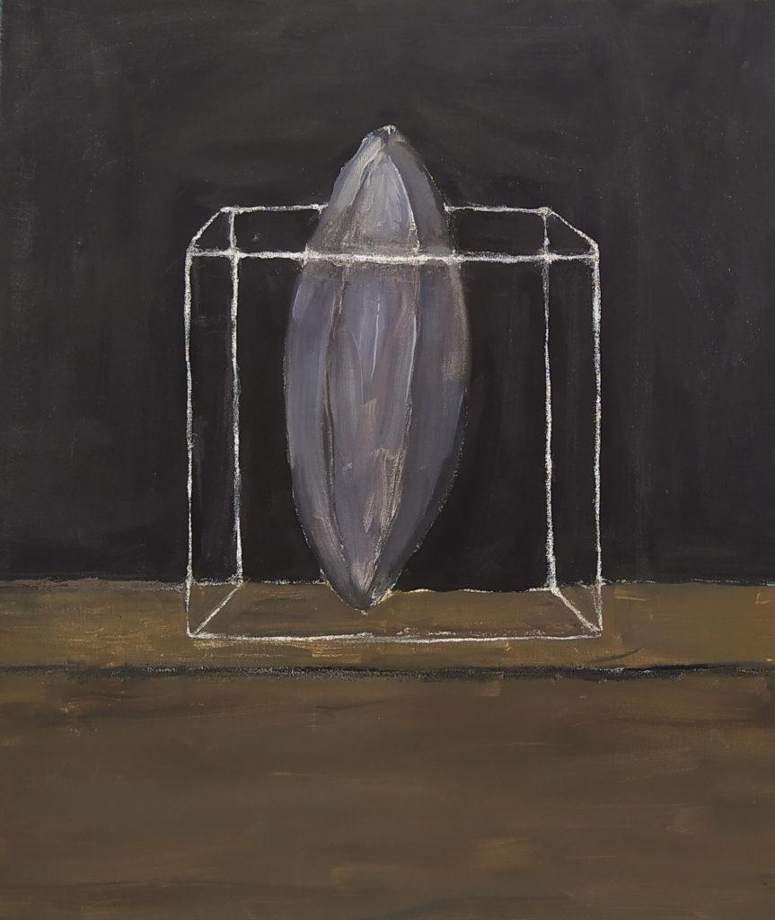 Sans titre / 2001 / Huile sur toile / H. 60 : L. 50 cm