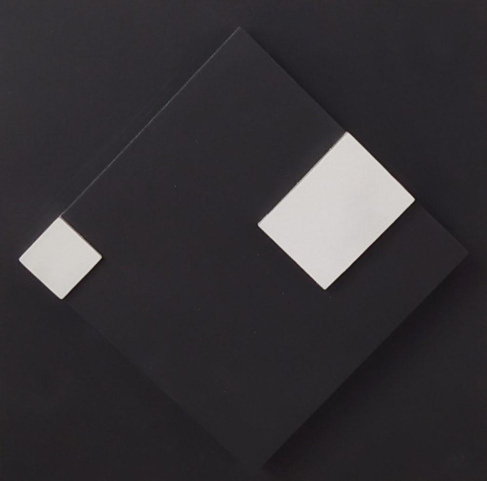 La Cour / montage sur bois / H. 20 : L. 20 cm