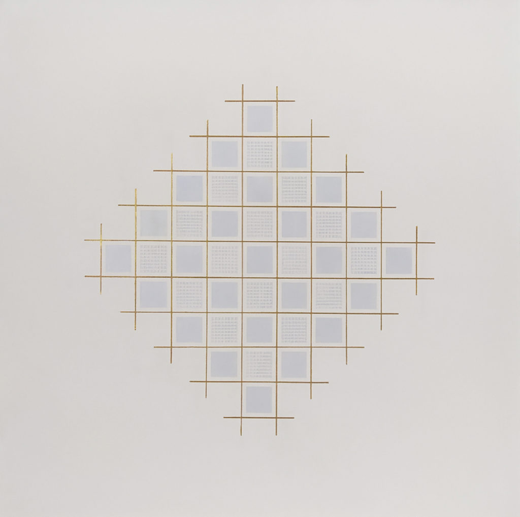Hommage à Renzo Piano / huile sur toile / H. 60 : L. 60 cm