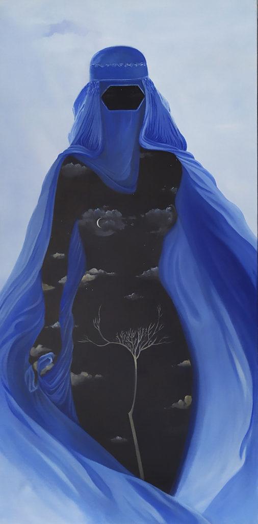 Magie Noire / 2009 / Huile sur toile / H. 100 : L. 50 cm