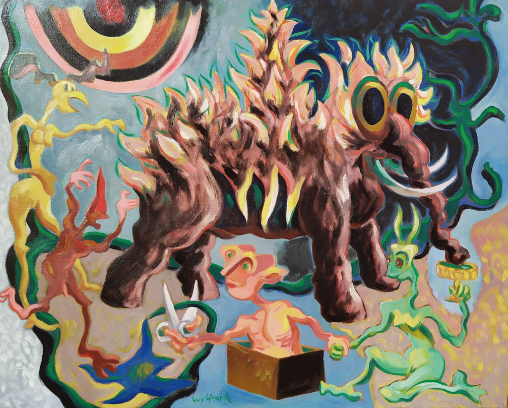 Mammouth Ananas / 2008 / Huile sur toile / H. 54 : L. 65 cm