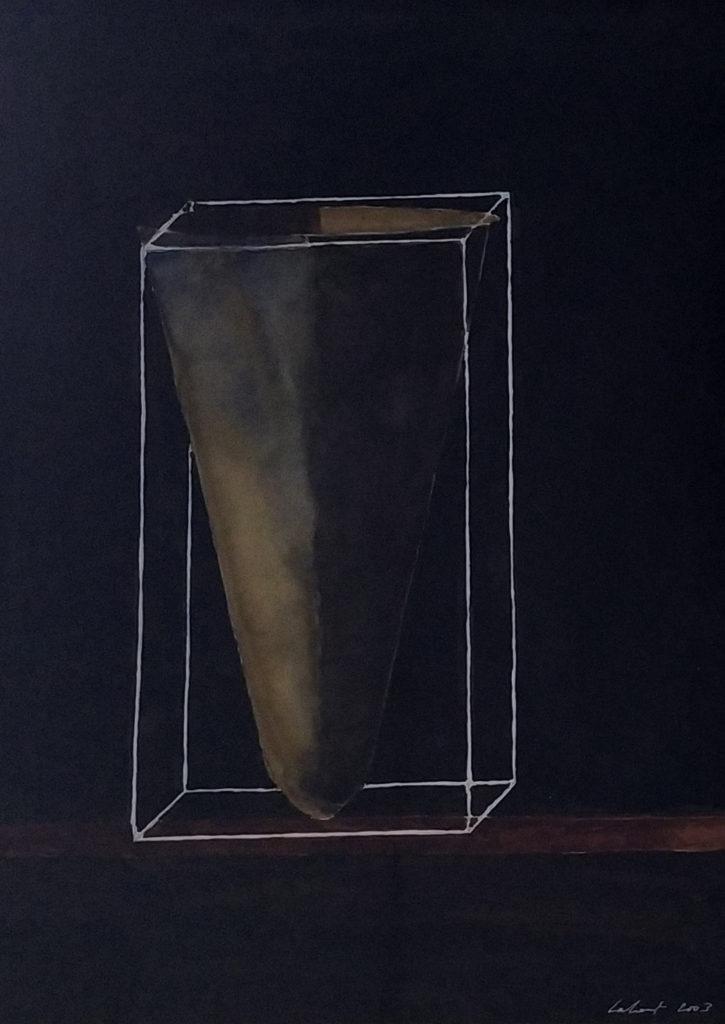 Sans titre / 2003 / Aquarelle sur papier encadrée / H. 46 : L. 34 cm