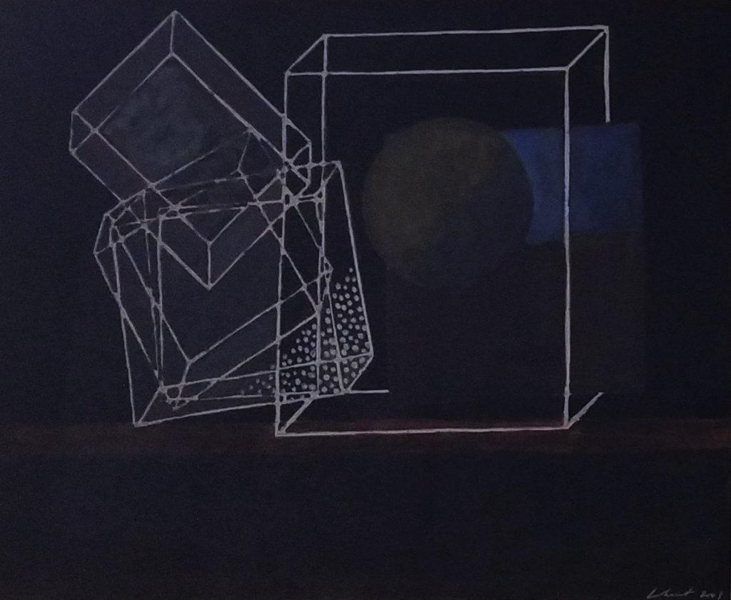 Sans titre / 2003 / Aquarelle sur toile encadrée / H. 30 : L. 37 cm