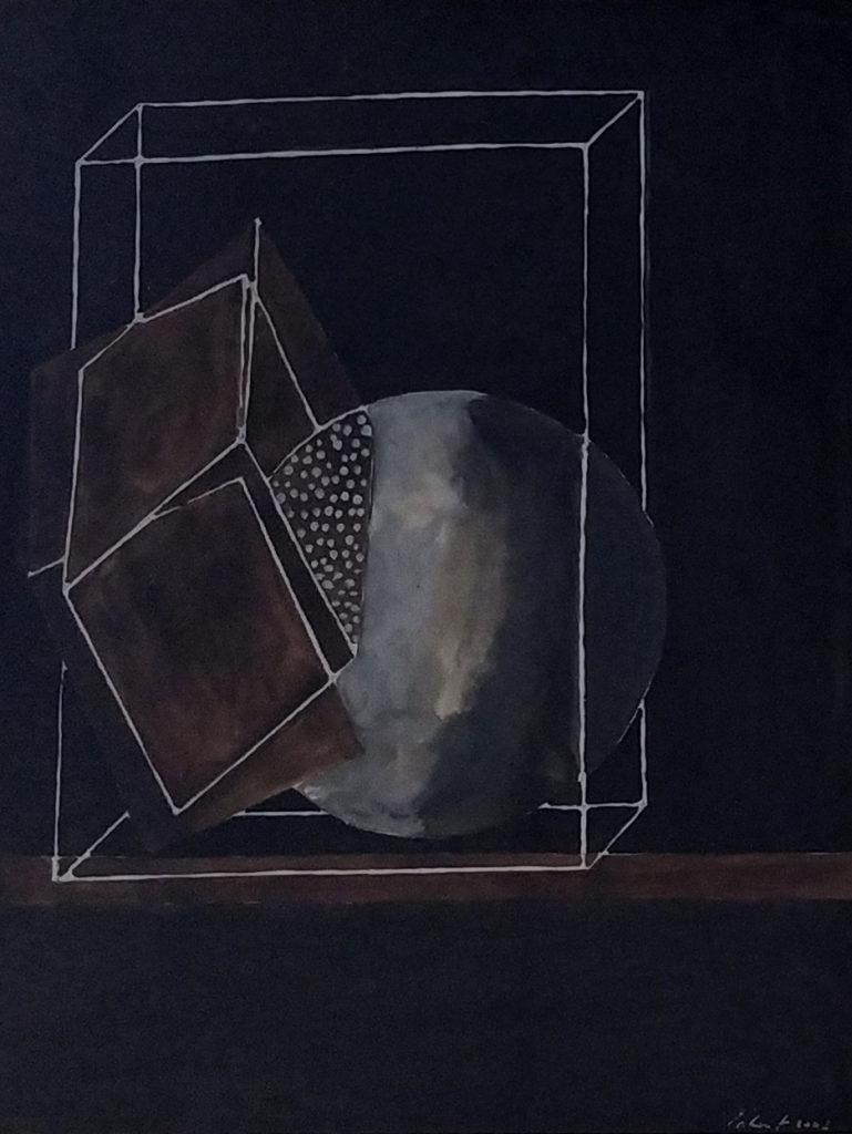 Sans titre / 2003 / Aquarelle sur papier encadrée / H. 37 : L. 30 cm