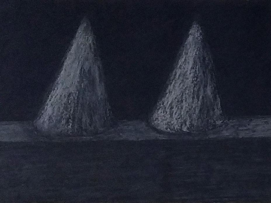 Sans titre / 1999 / Pastel sur papier encadré / H. 21 : L. 29 cm