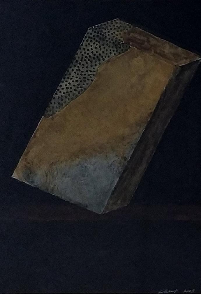 Sans titre / 2003 / Aquarelle sur toile encadrée / H. 30 : L. 22 cm
