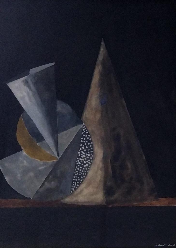 Sans titre / 2003 / Aquarelle sur papier encadrée / H. 47 : L. 35 cm