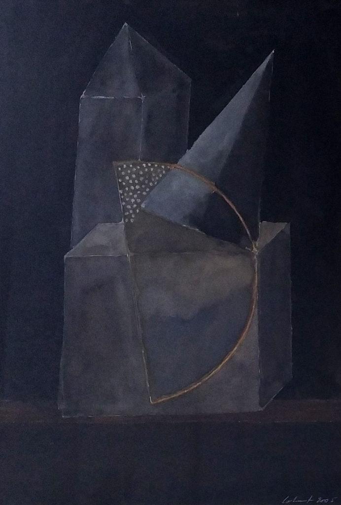 Sans titre / 2005 / Aquarelle sur papier encadrée / H. 49 : L. 34 cm