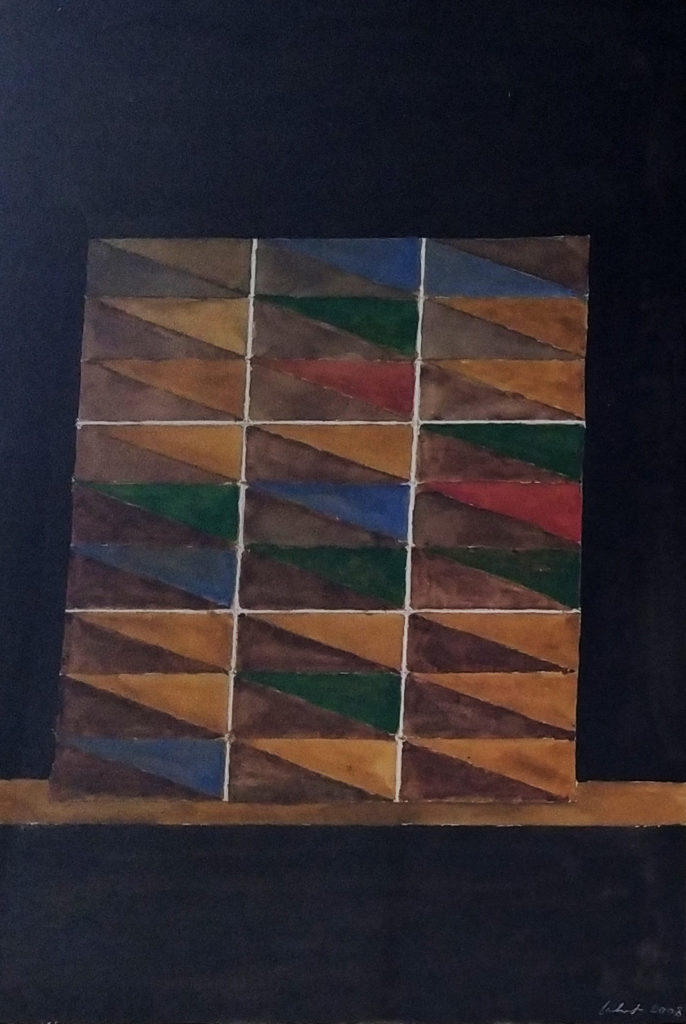 Sans titre / 2008 / Aquarelle sur papier encadrée / H. 51 : L. 36 cm