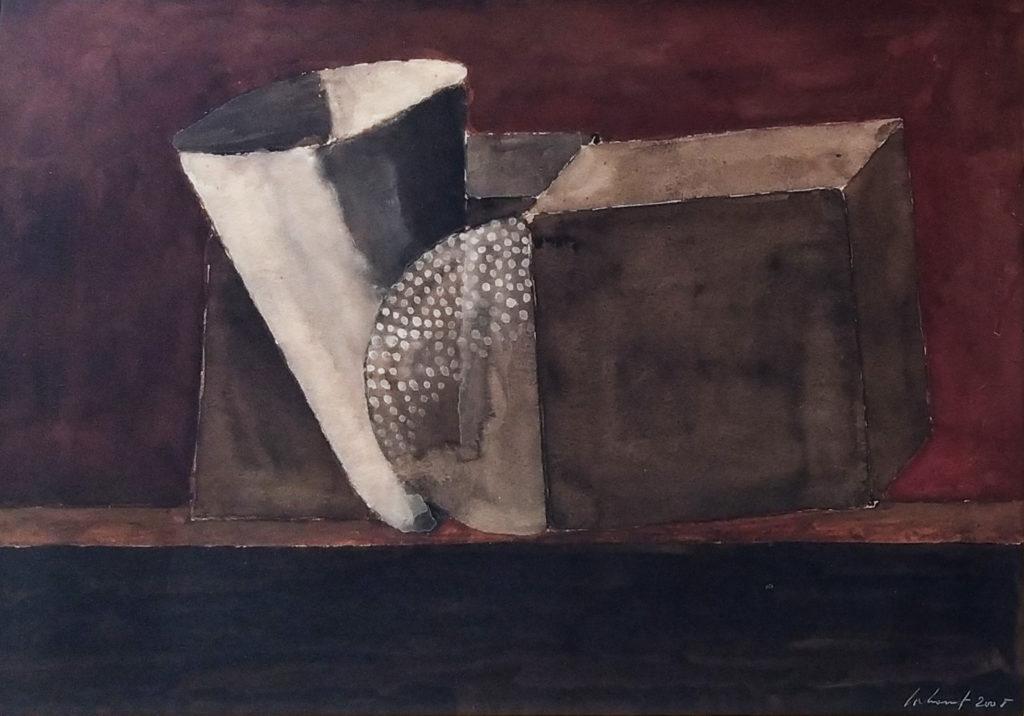 Sans titre / 2005 / Aquarelle sur papier encadrée / H.34 : L. .49 cm