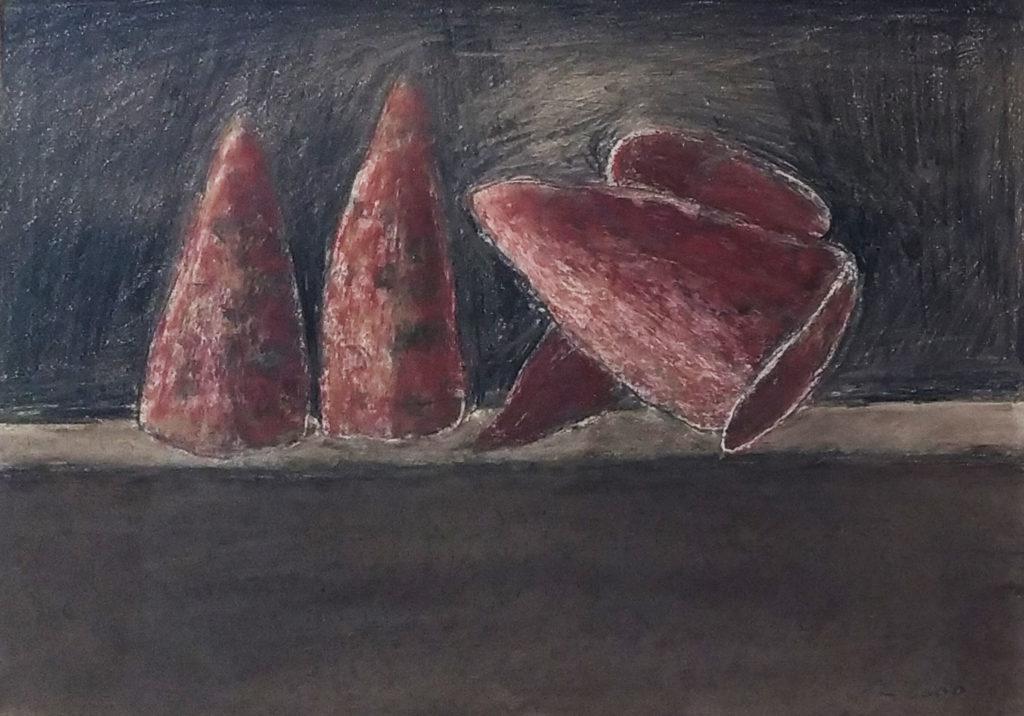 Sans titre / 2000 / Pastel sur papier encadrée / H. 29 : L. 42 cm