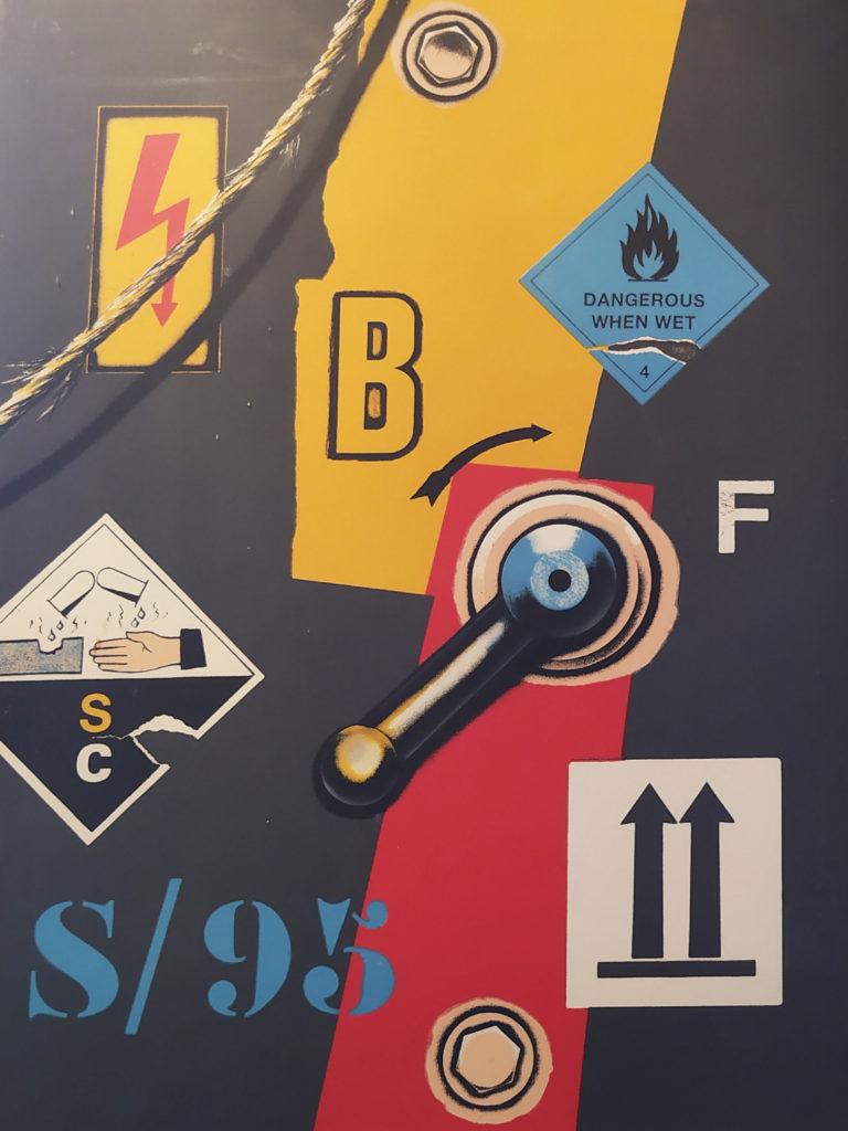 Sans titre (E.A 4/30) / 1997 / Lithographie signé sous verre encadré / H. 74 : L. 50 cm
