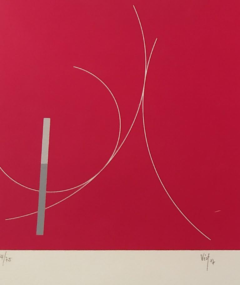 Composition rouge / 2007 / Sérigraphie numérotée en couleur / H. 50 L. 31 cm