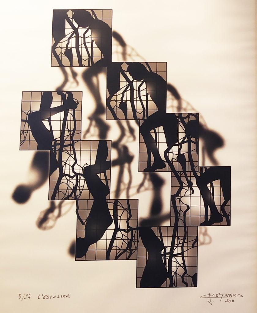 L'Escalier (5/27) / 2011 / impression numérique sous verre encadré (Sirugue) / H. 74 : L. 60 cm