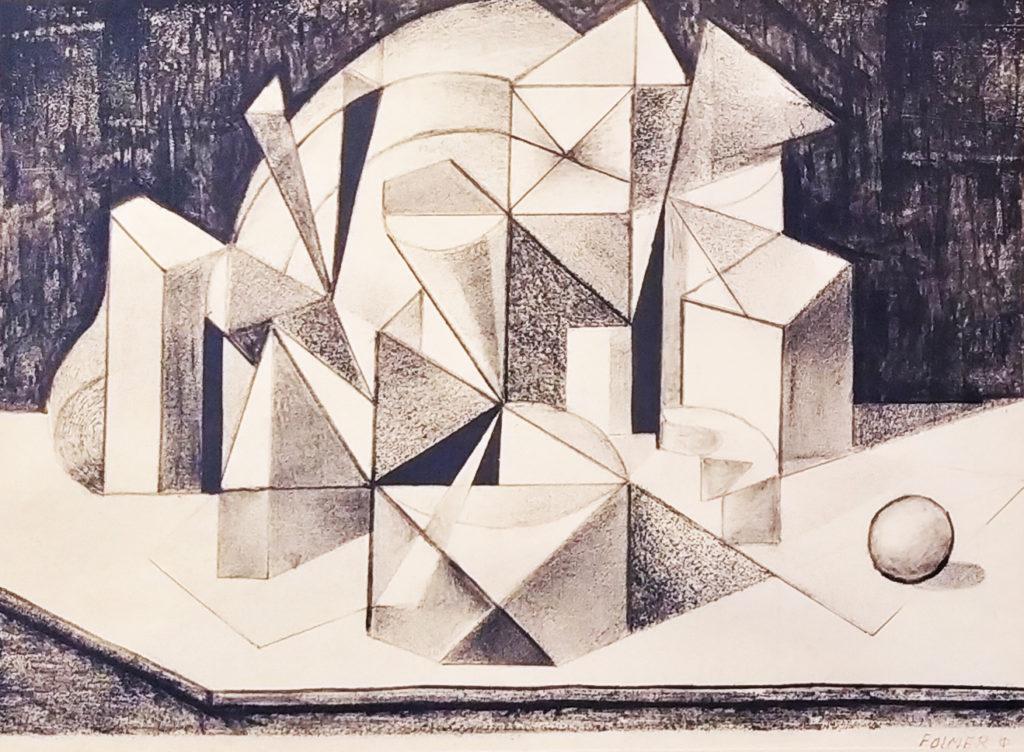 Sans titre / Dessin sur papier sous verre encadré / H. 38 : L. 52 cm