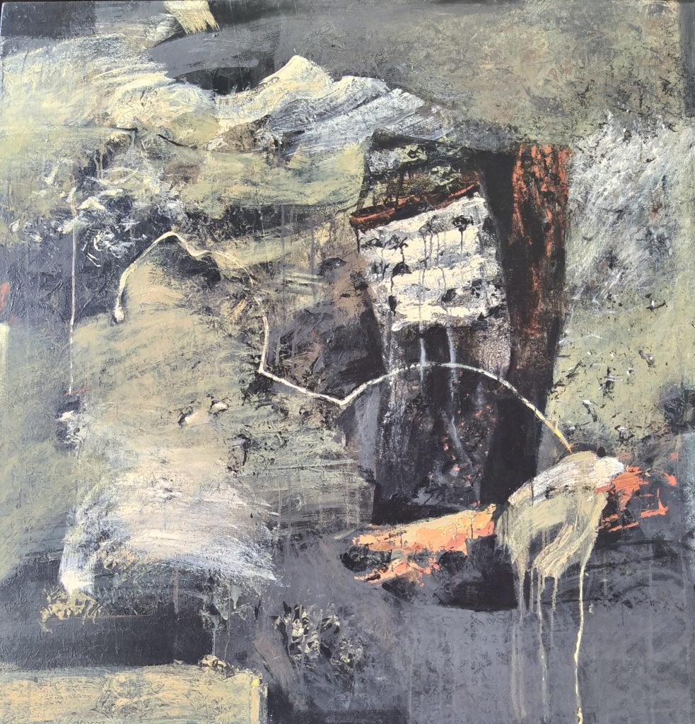 Paysage Non Dit / 2008 / Acrylique sur toile / H. 130 : L. 130 cm