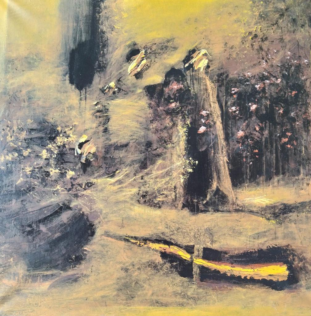 La Ruse du Mythe Le Chemin / 2010 / Acrylique sur toile / H. 130 : L. 130 cm