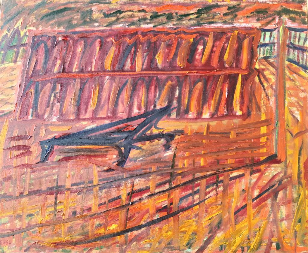 Piano sur la Place Saint-Marc / 2004 / Huile sur toile / H. 60 : L. 73 cm