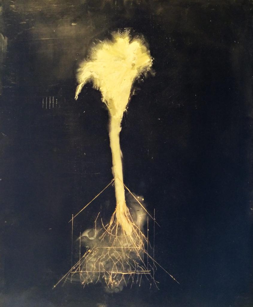 Sans titre / 2006 / Cire et pigments sur bois / H. 45 : L. 38 cm