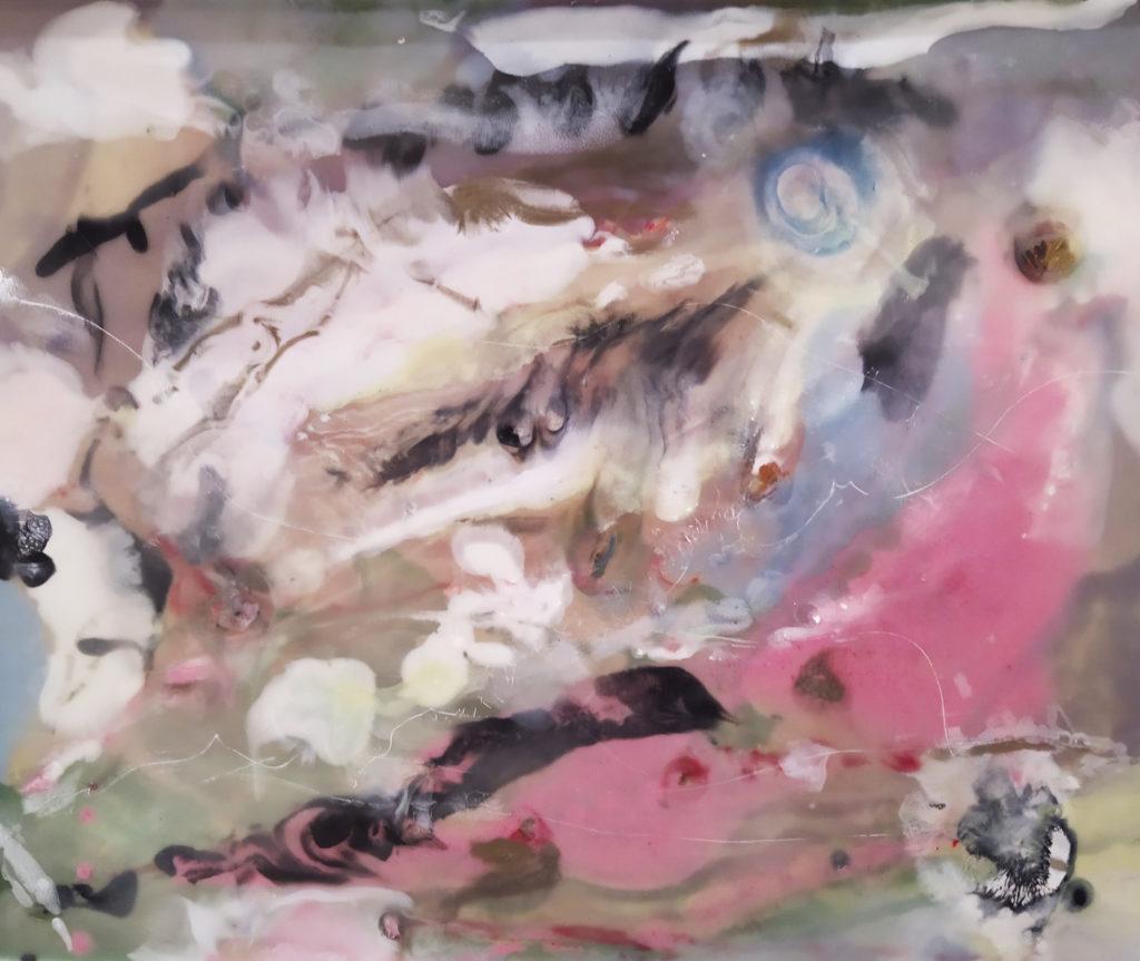 Sans titre / 2013 / Cire et pigments sur bois / H. : L. cm