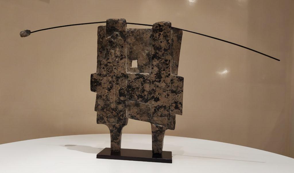 Pierre de Pluie / 1988 / sculpture granite / 65 x 8 H. 37 cm