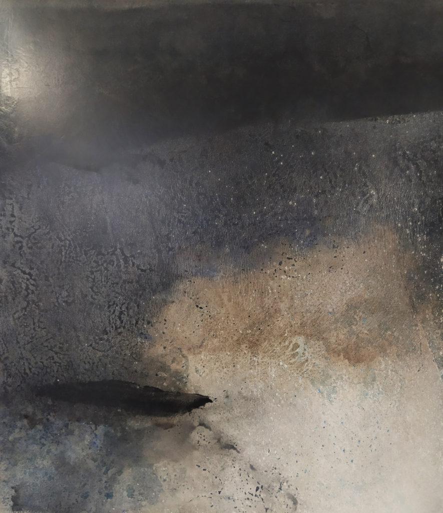 Redoules Gérard / Sans titre / Laque sur bois  / H. 53 : L. 60 cm