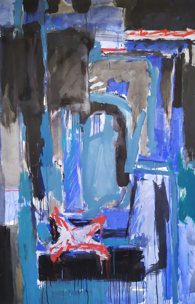 La Folie Méricourt (Diptych I) / 1986 / Acrylique sur Canvas / H. 195 : L. 130 cm