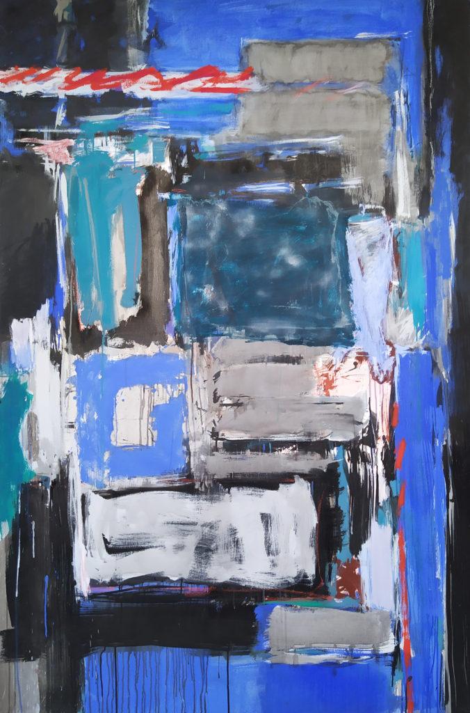 La Folie Méricourt (Diptych II) / 1986 / Acrylique sur Canvas / H. 195 : L. 130 cm