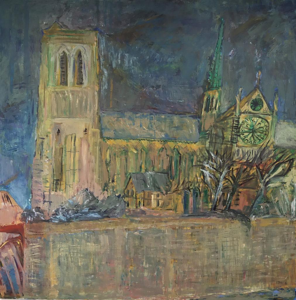 Notre-Dame de Paris / 2010 / Huile sur toile / H. 120 : L. 120 cm