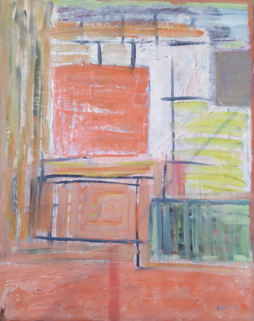 « Bonjour Paris » / 1999 / Huile sur toile / H. 50 : L. 40 cm