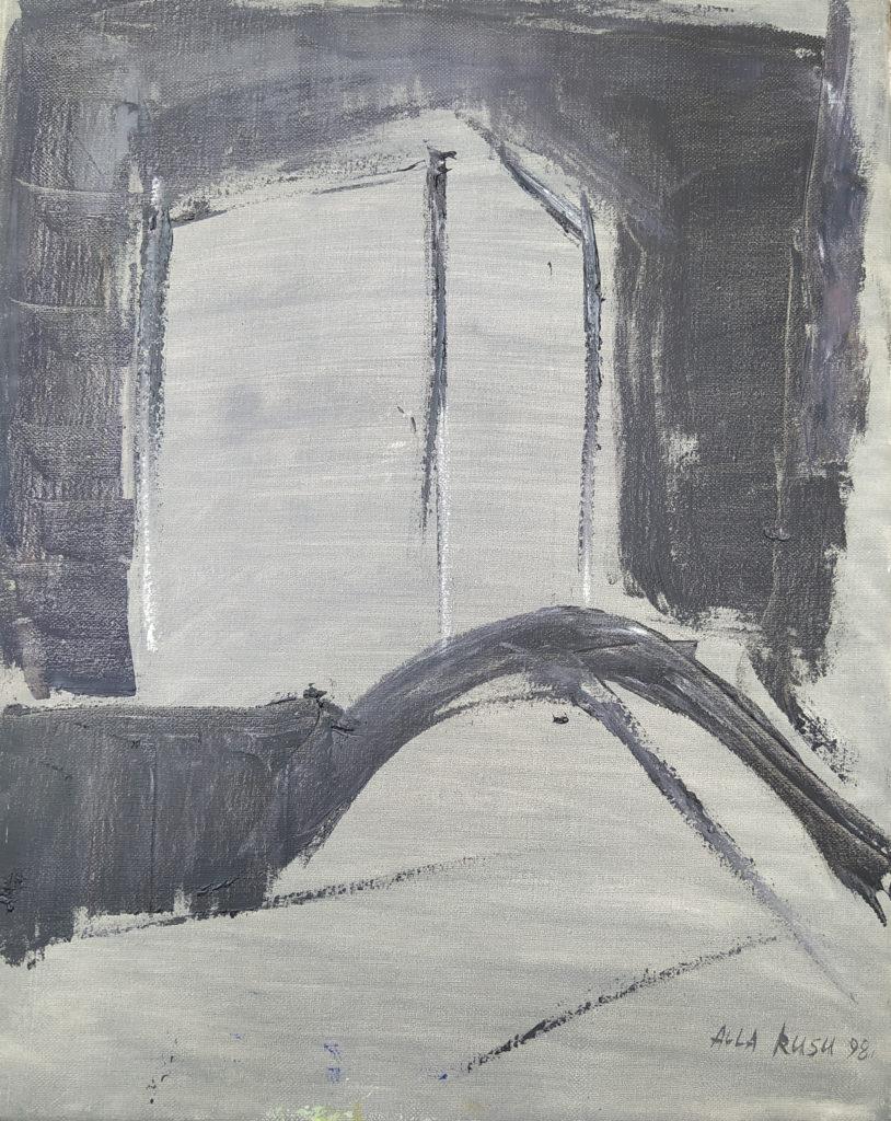 « Hôtel Danieli » / 1998 / Huile sur toile / H. 50 : L. 40 cm