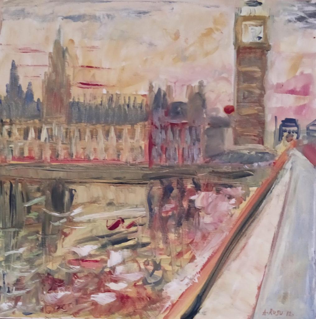 Londres / 2012 / Huile sur toile / H. 45 : L. 45 cm