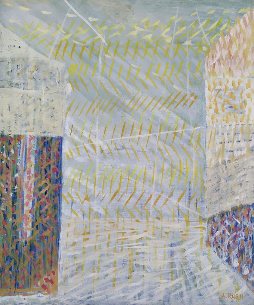 « Lumière Sur Venise en Hiver » / 2002 / Huile sur toile / H. 60 : L. 50 cm