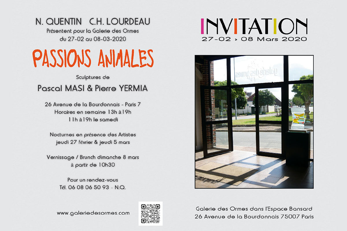 Invitation Exposition Passions Animales