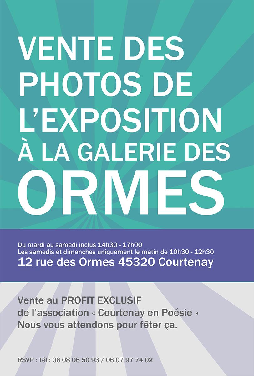 VENTE DES PHOTOS DE L'EXPOSITION